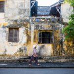Les murs de la vieille ville de Hoi An, Vietnam