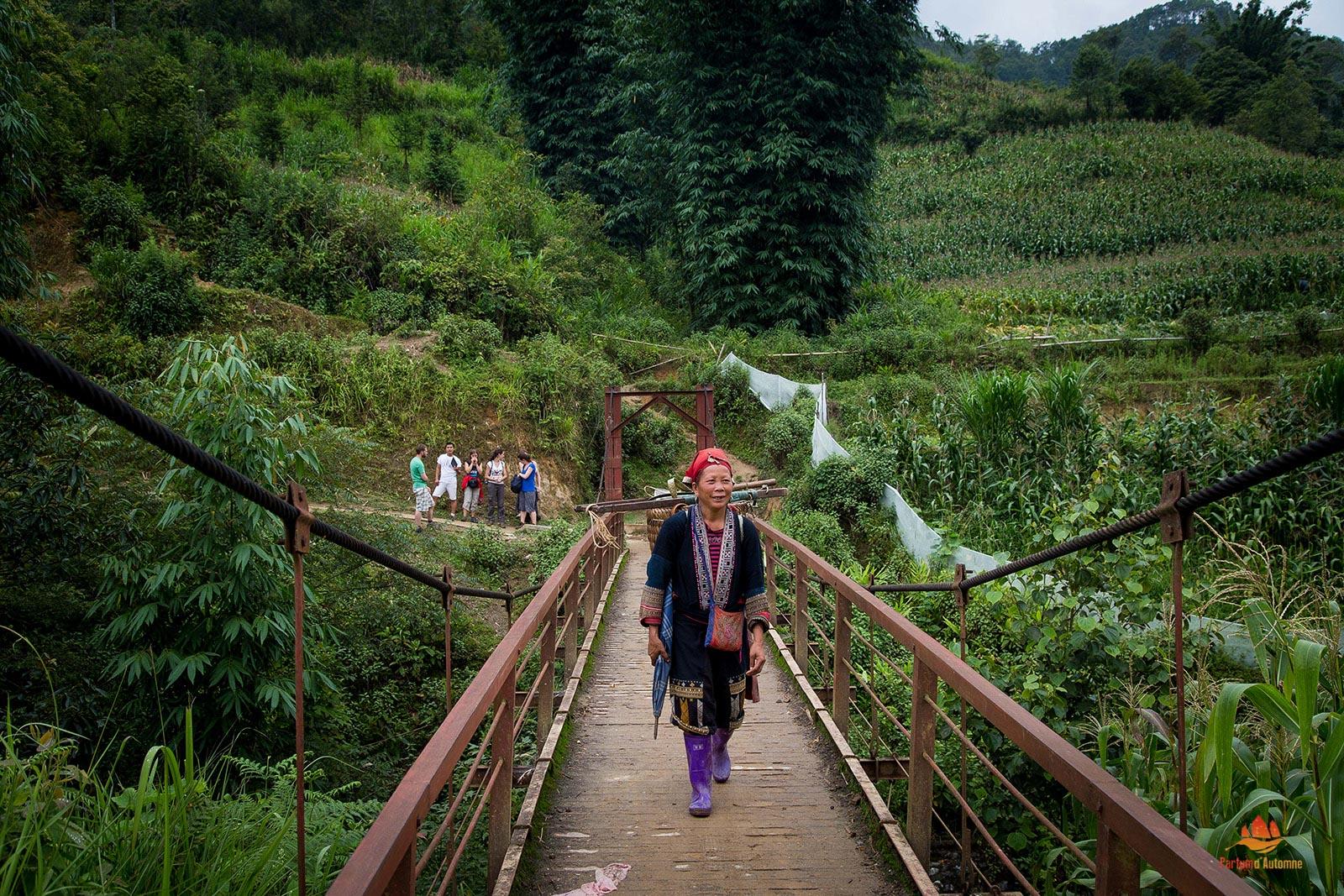 Femme Dao Rouge à Sapa, Vietnam