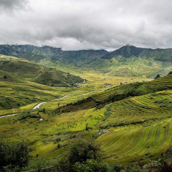 Vallée à Mu Cang Chai, Vietnam