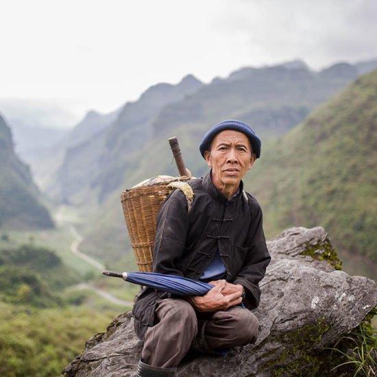 Homme Hmong dans la Province de Ha Giang, Vietnam
