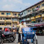 Cyclo pousse dans Cholon, Saigon, Vietnam