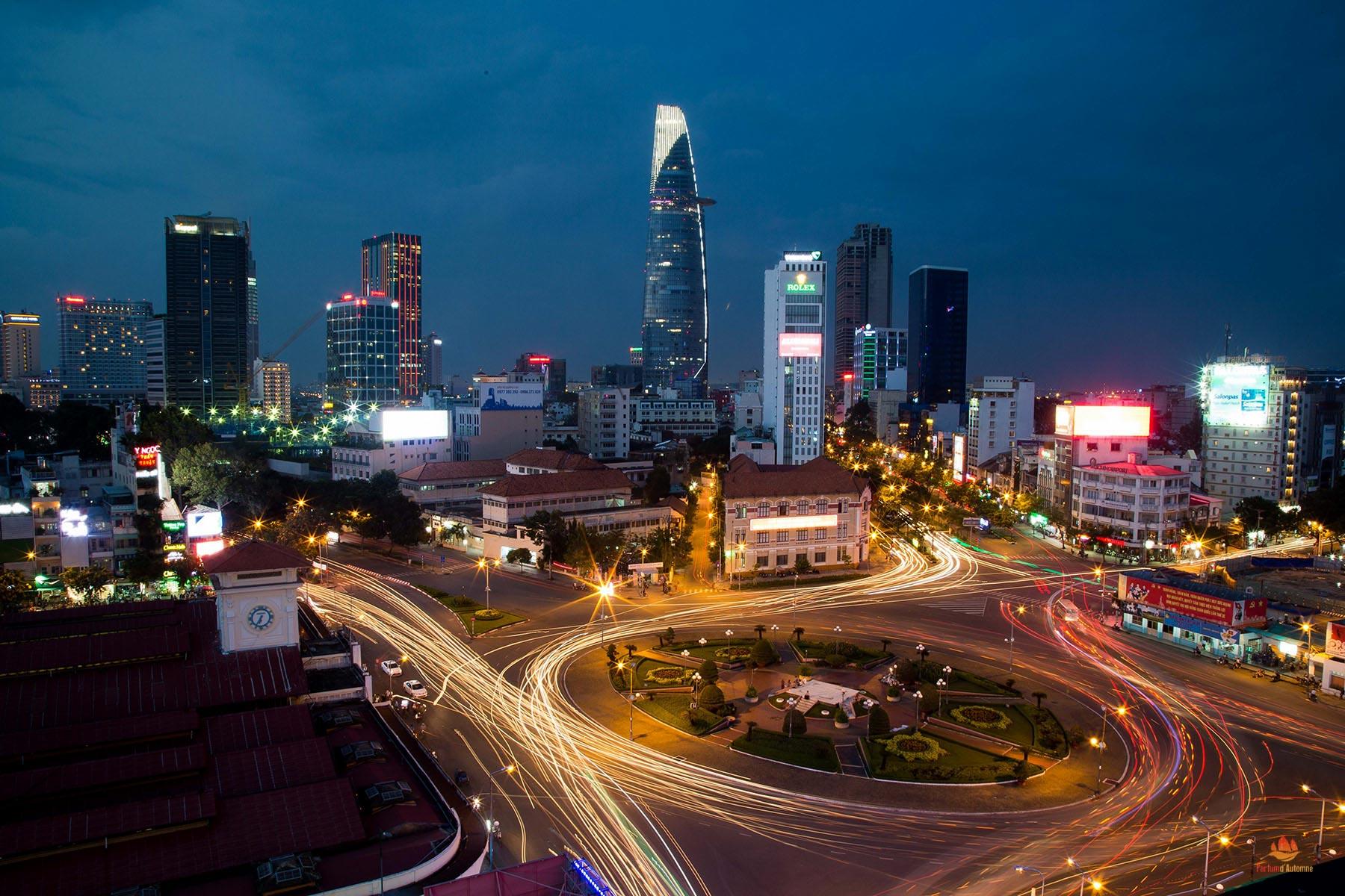 Saigon de nuit, Vietnam