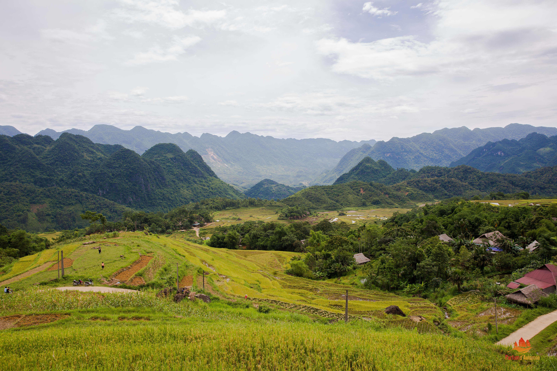 Paysage de Pu Luong, Vietnam