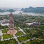 Vue aérienne de la pagode Bai Dinh, Ninh Binh, Vietnam