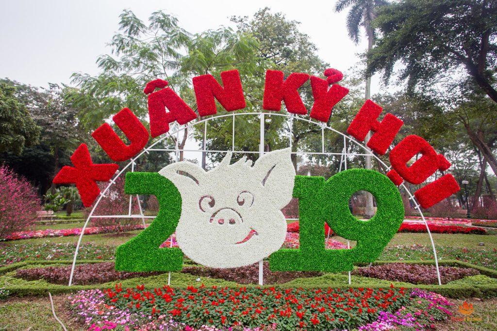 L'année du cochon fêtée à Hanoi, Vietnam