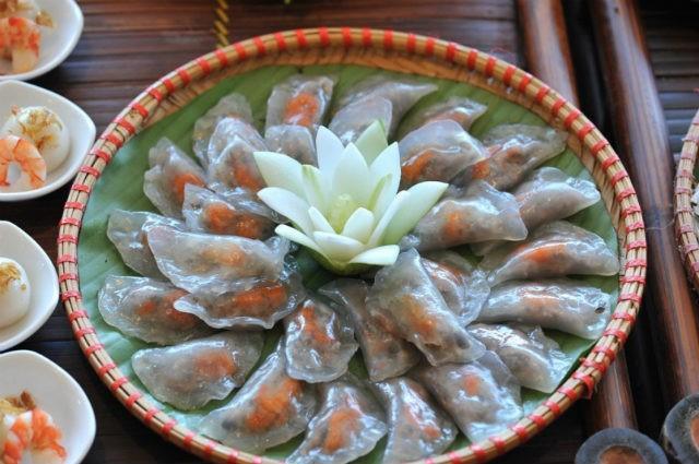 Banh Bot Loc, plat de Hue à la pâte translucide, Vietnam