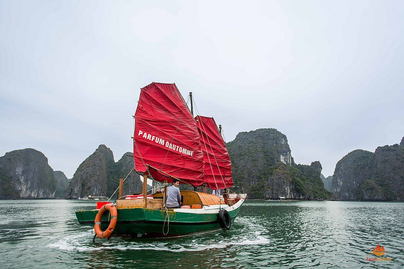 Jonque traditionnelle pêche vietnam
