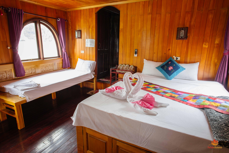 Chambre sur la Majonq, Baie de Lan Ha, Vietnam